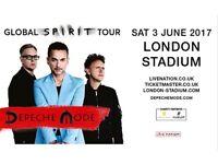 Depeche Mode London standing ticket 3/6/17
