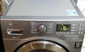 All in 1: SAMSUNG Ecobubble Washer(9kg)+Dryer(6kg), Stainless Steel, RPR £700!!!