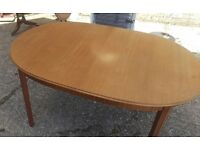 dining table teak with extension and 6 chairs for living dining kitchen room