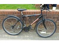 FOR SALE MOUNTAIN BIKE BLACK OVERSIZE TUBLING MINT CONDITION CASH £70 OR SWAP LAPTOP OR TABLET