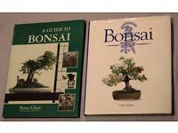 2 BONSAI BOOKS - THE BONSAI SCHOOL by Craig Coussins & GUIDE TO BONSAI by Peter Chan