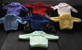 Hand knitted jackets