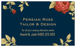 Persian Rose Tailor & Design Norman Park Brisbane South East Preview