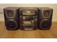 Panasonic CD stereo system SC-AK25 Main unit and speakers