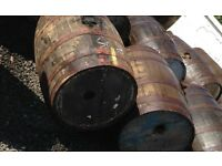 Half and Full Size Whisky barrels