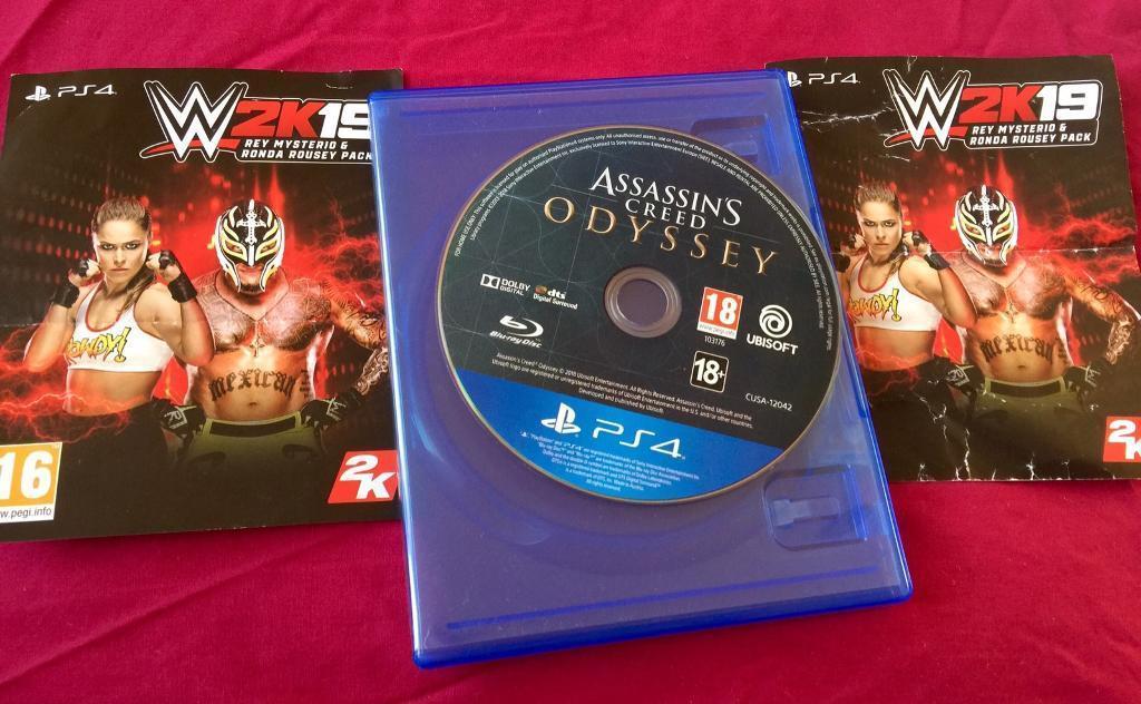 Assassins Creed Odyssey Ps4 + WWE 2K19 DLC   in Uxbridge, London   Gumtree