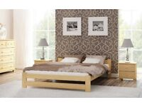 High quality pine double bed frame (not ikea rubbish!...perfect condition and easy to assemble)