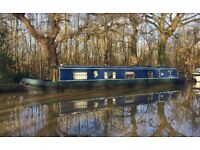 Narrowboat 55ft Cruiser Stern, on a leisure mooring, River Wey