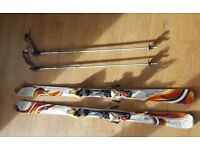 K2 Burnin Luv 158cm Skis with K2 Poles