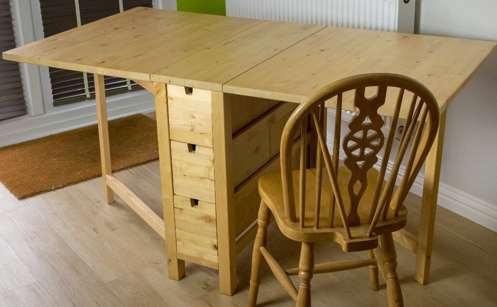 Solid Wood Ikea Norden Folding Dining Table With 6 Drawers In Cambridge Cambridgeshire Gumtree