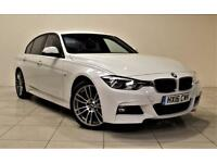 BMW 3 SERIES 2.0 320D M SPORT 4d 188 BHP + AIR CON + AUX + BLUE (white) 2016