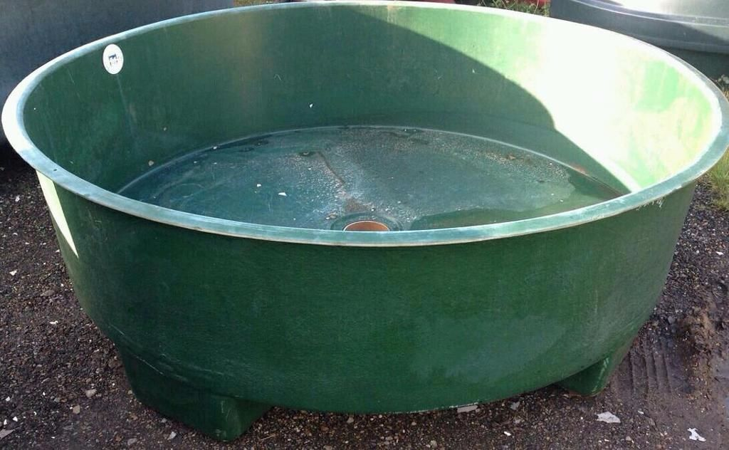 Large fibreglass koi vat tank fish pond carp in for Fish pond tanks for sale