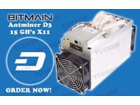 Antminer D3, Oct-Nov (LIMITED QUANTITY), Includes PSU