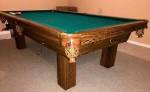 9 DUFFERIN SLATE POOL TABLE INSTALLED WITH ACCESSORIES