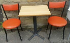 Commercial Bistro Set Table & Two Chairs Eleven Available