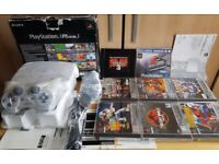 PlayStation 1 console with rare games