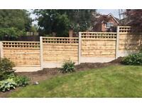 🌼 High Quality Wooden Tanalised Garden Fence Panels