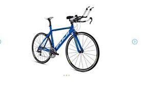 Fuji Aloha Triathlon Bike with Turbo trainer And upgrades