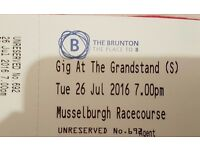 MUSSELBURGH'S SUMMER MUSIC FESTIVAL Gig at the GrandStand - 2 Tickets - 26th July 2016, 7pm.