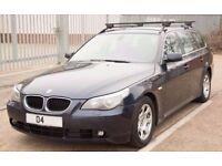 BMW 2004 525i E60 Blue Touring Black Leather Seats Full Service History Auto