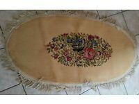 True vintage hearth bedroom floral rug shabby chic