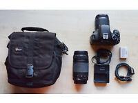 Canon EOS 550D Camera & 2 Lenses & Bag