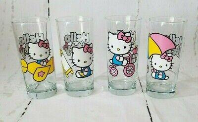 Set of 4 Hello Kitty Sanrio Drinking Glasses Tumblers (Hello Kitty Spectacles)