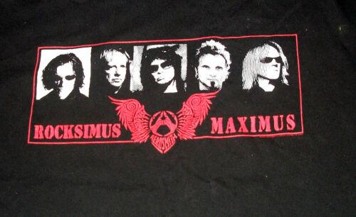 AWESOME AEROSMITH RARE ROXIMUS MAXIMUS TOUR CREW SHIRT  PLUS MORE