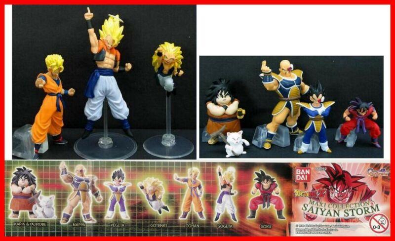 Dragon Ball Z Rare Set 8 Figure BANDAI gashapon Part 9 Saiyan Storm New Rare