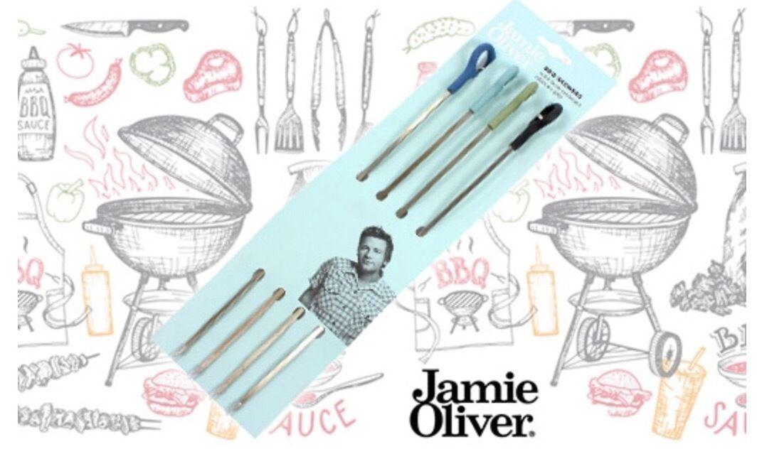 Jamie Oliver Grillspieße 4 Stück BBQ Spieße Barbecue Grillen