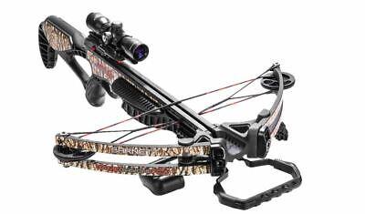 Barnett Gamecrusher Crossbow Package, 4x32 Multi-Reticle Scope, Camo