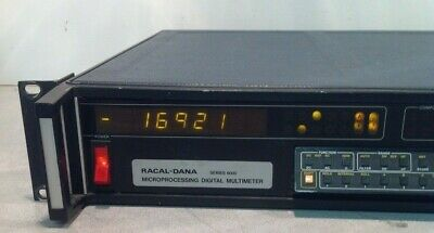 Racal-dana Microprocessing Digital Multimeter Series 6000 Pn 6002 W Option 66