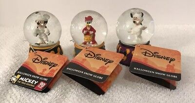 Disney Mickey Mouse Minnie Mummy Donald Devil Mini Halloween Snowglobes Set 2018](Halloween Snowglobes)