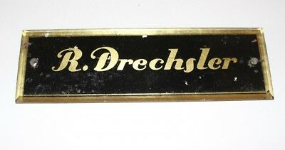 Original Antique Shield Klavierbauer Piano Piano ~ 1880 R. Drechsler Glas Gold