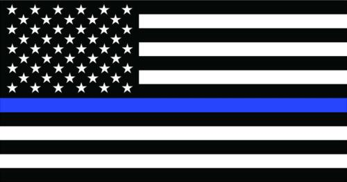 """Thin Blue Line American Police Flag Car MAGNET Magnetic Bumper Sticker 4.25"""" X8"""""""