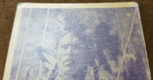 Chief Bear Claw Trading Card - Unknown Maker  - $4.99