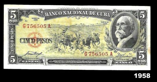 SPECIAL Banknote $5 pesos.1958.