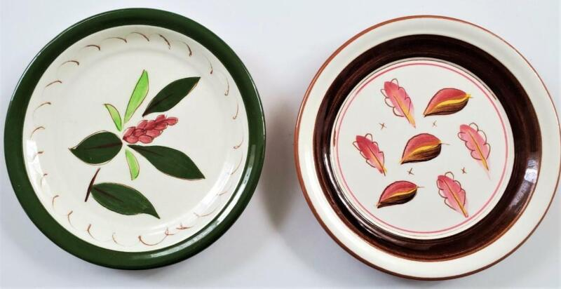 """Vintage 2 Stangl Coaster/ Plates 5"""" Rhododendron # 3841 & Windfall Pink hues"""