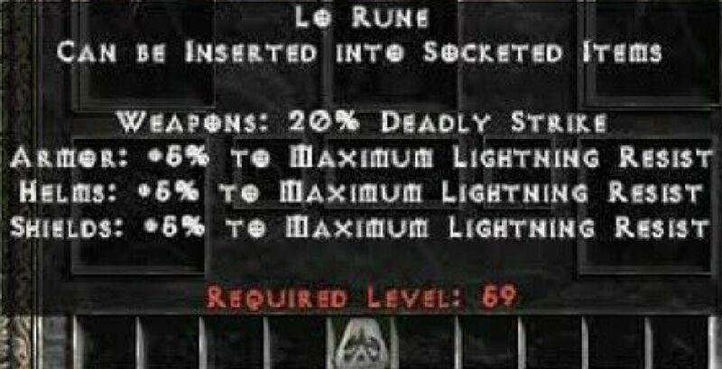 PD2 Project Diablo 2 Softcore SC - LO RUNE