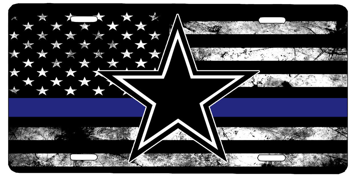 New Custom American Flag Thin Blue Line Dallas Cowboys Star