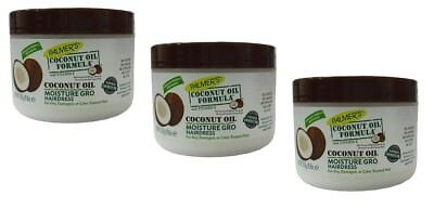Palmers Coconut (3x Palmers Palmer's Coconut Oil Formula Moisture Gro Shining Hairdress 250g)