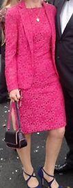 Designer fuschia pink dress and jacket