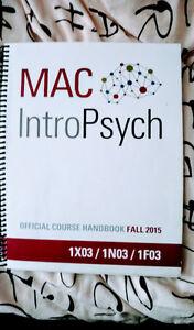 McMaster Intro Psych Course Handbook Fall 2015