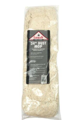 """Libman Commercial 922 Dust Mop Head, 100% Cotton, 24"""" x 5"""", Beige"""