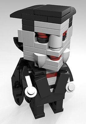 Constructibles  Cubeville Dracula   Halloween Lego  Parts   Instructions Kit