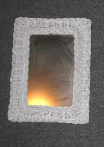 Mirror - White Wicker 12