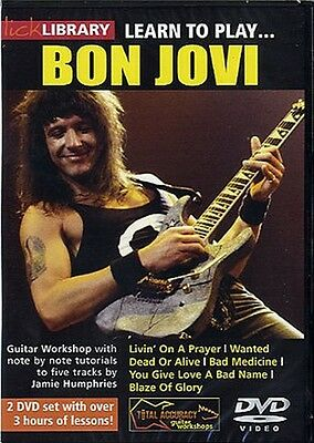 NEW LICK LIBRARY LEARN TO PLAY BON JOVI DVD ELECTRIC GUITAR RDR0081 JOHN BONJOVI