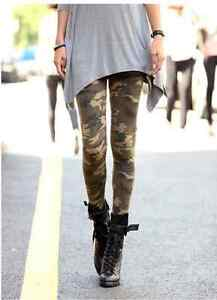 Women-Punk-Funky-Sexy-Camouflage-Leggings-Stretchy-Tights-Pencil-Skinny-Pants