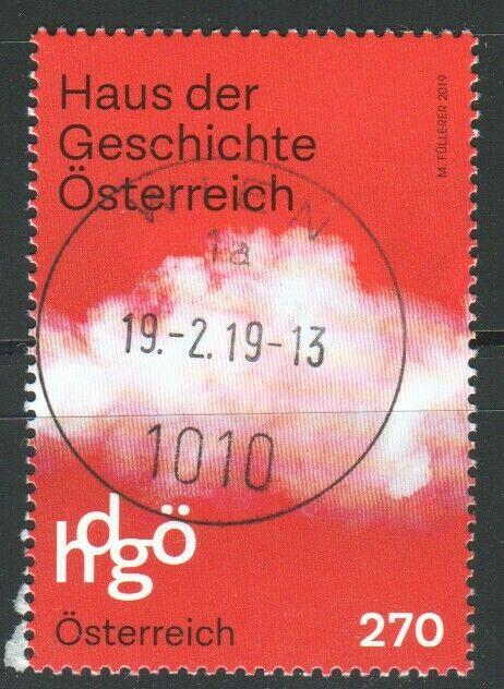 """Österreich 2018: """"Haus der Geschichte"""" gestempelt (siehe Foto/Sca"""