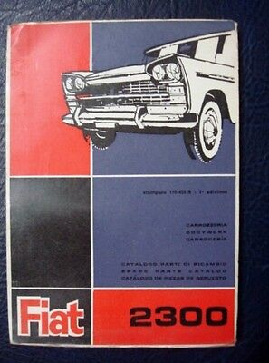FIAT 1800 SALOON&ESTATE ILLUSTRATED BODY SPARE PARTS CATALOGUE 3RD Ed MARCH 1961